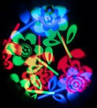 LED-Projektor Blumen, multicolor, rotierende