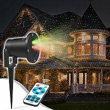 LED-Projektor Weihnachten Lampe - Sternenlichter