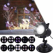 LED Projektor Weihnachten Licht, 12 Folien, ALED