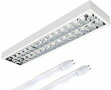 LED Rasteranbauleuchte, 1200mm, 2x18W, 6400K