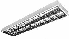 LED Rasterleuchte Empty 2x150cm T8 Anbau Bürolampe