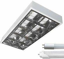 LED Rasterleuchte Empty 2x60cm LED Tube Tageslicht