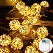 LED Rattan Lichterkette, Takraw Ball Lichterketten
