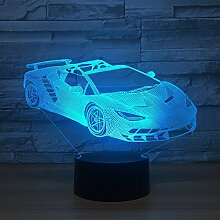 Led Rennwagen 3d Lampe 7 Farbwechsel Led Luminaria