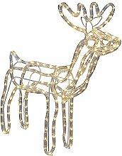 LED Rentier Leucht Deko Weihnachts Figur Außen