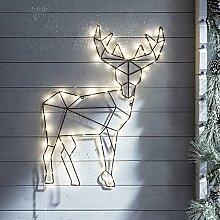 LED Rentier Wand Dekoration Fensterbild Weihnachten