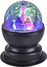 LED RGB Discokugel Tisch Leuchte Farbwechsel Rotationsleuchte 360° Party DJ Licht Lichteffekt Partyleuchte Farbwechsel Lampe