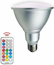 LED RGB Lampe mit Fernbedienung,Susutemly 13W E27