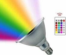 LED RGB Lampe mit Fernbedienung,Susutemly 20W E27