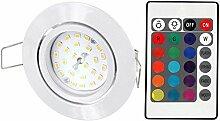 LED RGB Slim Spot Einbaustrahler 230V schwenkbar -