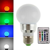 LED Sauna RGB Leuchtmittel E27 3W mit Fernbedienung