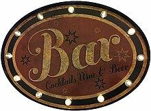 LED Schild BAR Leuchtschild Barschild mit Timer Nostalgie Leuchtreklame Vintage 60x44cm