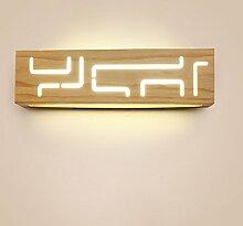 LED Schlafzimmer Wandlampe Nachttisch Massivholz