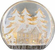 LED-Schneekugel Baumhaus Die Saisontruhe