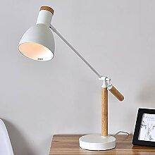 LED Schreibtisch Lampe, Holz-Designer-Tischlampe,