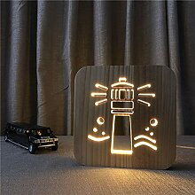 LED Schreibtischlampe 3D Illusion Lampe