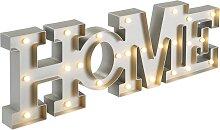 LED-Schriftzug Home, grau