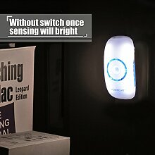 LED Sensorleuchte Nachtlichter mit Dämmerungssensor und Bewegungsmelder intelligent infrarot Körper Sensor Nachtlicht für Kinderzimmer Schlafzimmer Küche Eingang Flur Treppe usw. (3 Stücke)