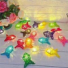LED Sepak Takraw Farbige Fisch String Lampe Garten