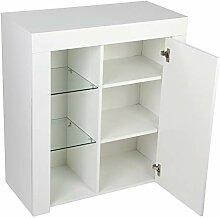 LED Sideboard Kommode Weiß Hochglanz