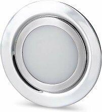LED Slim Möbel Einbaustrahler Vollmetall IP44 12V
