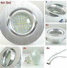LED SMD Einbaustrahler 4er Set Bicolor ALU