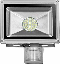 LED SMD Strahler Fluter, Greencolourful 20W 30W 50W 80W Außenstrahler Wasserdicht Scheinwerfer mit PIR Bewegungsmelder Fluter Lich