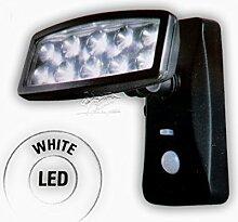 LED Solar-Außenleuchte Sensor 15,5 x 14,5 schwarz mit Bewegungsmelder