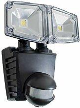 LED Solar Außenleuchte Wandlampe 2er Flutlicht