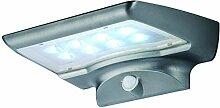 LED Solar Aussenleuchte Wandlampe BTR Bewegungsmelder BT1540 Solar PIR Außenwandleuchte Sensor 400 Lumen Kaltweiß