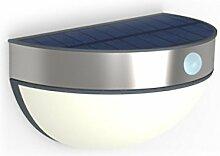 LED Solar Außenleuchte Wandlampe Eco-Light ST 9087 Lutec Brick Sensor Gartenbeleuchtung Terrassenlicht Edelstahl Bewegungsmelder 2,3 Watt 200 Lumen IP44