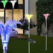 LED Solar Dekospieß Farbwechsel Solarleuchte