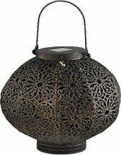 LED Solar Hänge Decken Lampe orientalisch Garten