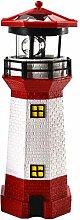 LED Solar Leuchtturm 28 cm | Garten Deko