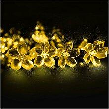 LED Solar Lichterkette Blumen 6.5 Meter 50er
