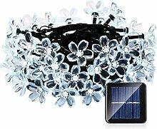 LED Solar Lichterkette Blumen Garten Außen 50er