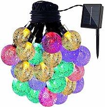 LED Solar Lichterkette, DINOWIN Wasserdicht 20ft