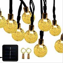 LED Solar Lichterkette mit LED Kugel 6.5 M 30 LEDs