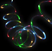 LED-Solar-Lichtschlauch bunt Leuchtschlauch Licht Gartenbeleuchtung Lichterkette