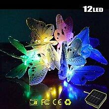 LED Solar Schmetterling Lichterkette, Morbuy 12LED