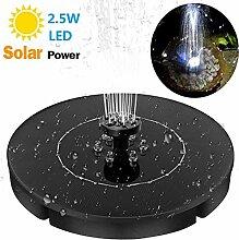 LED Solar Springbrunnen, 2.5W Garten Solar