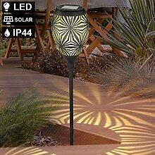 LED Solar Steck-Leuchte Garten-Beleuchtung Weg Hof