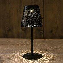 LED Solar Tischlampe, schwarz