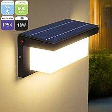 LED Solar Wandleuchte, Aussenleuchte mit
