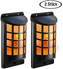 LED Solar Wandleuchten Halbrund Gitter Wasserdicht