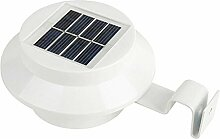 LED Solar Zaun Licht Wasserdicht IP55Kerzenform, Outdoor Gosse Yard Garden Lampe Wand montiert Sensor Weiß Schutzhülle