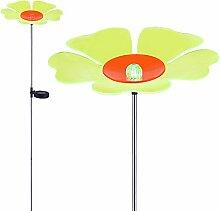 LED Solarlampe mit Erdspieß Beetleuchte Solar Außenleuchte Beetbeleuchtung Blume Farbwechsel (Gartenlampe, Solarleuchte, Gartenleuchte, Außenlampe, Höhe 123 cm, grün orange)