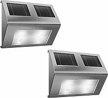 LED Solarleuchte Edelstahl Weglicht