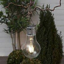 LED Solarleuchte Glühbirnen-Form mit Klammer zum