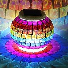 LED Solarleuchte Solarbetriebene Gartenleuchte Energie sparende Solarlampe Weiß/Farbe Wechseln Wasserdicht Außenleuchte IP65 Bodeneinbauleuchte für Outdoor Garten Party (C)